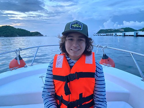 Our son K'ayum off on a fishing adventure!