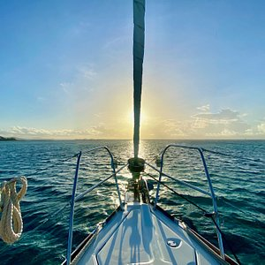 View from on deck looking out into the Grenadines