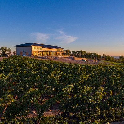 Perched atop the Niagara Escarpment in Vineland, Megalomaniac has the best view in wine country.