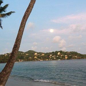 Sunset at Laborie Beach