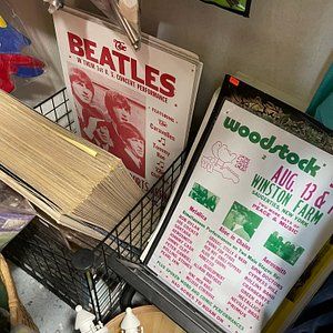 Vintage albums, concert posters and reprints,  also for sale. Scored posters for Jefferson Airplane, Santana, and Cream for my stepdad.