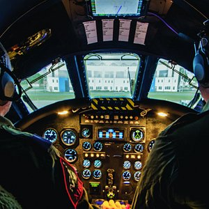 The view from the cockpit in the World's only Vulcan Bomber.