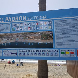 Beach with parking