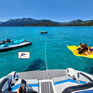 Tahoe Jet Boats LAKE TAHOE'S SAFEST TOW BOATS. NO PROPELLERS! Tow Sports or Sightsee, Swim and Relax. Make us your choice!