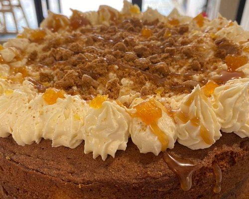 Homemade cakes available in Café Dansant, located in Tower Gardens Pavilion at the rear of Tower Gardens Park.