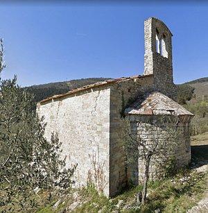 scorcio della chiesetta nella parte absidale con il campaniletto