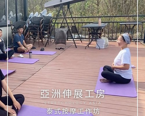 In 2021 we hosted a tea tasting + Thai yoga ( Rusie Dutton ) in White Card Freediving Center in Liuqiu!
