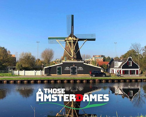 Just one of many windmills we'll see on the countryside bike tour to Zaanse Schans & Zandam