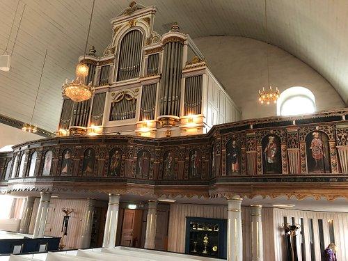 Orgelläktaren i Fjärås Kyrka i Fjärås