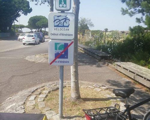 Point d'arrivée de l'itinéraire n°6 : La Loire à vélo. La mer est juste derrière la dune !!