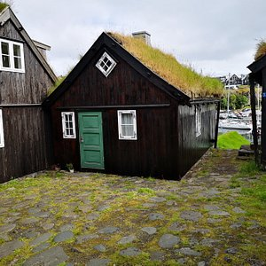 Houses next to old farm
