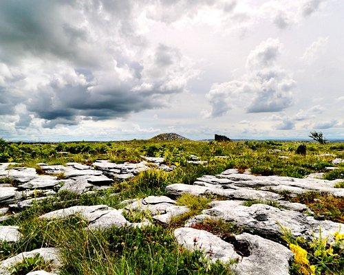Poulawack Cairn on the horizon
