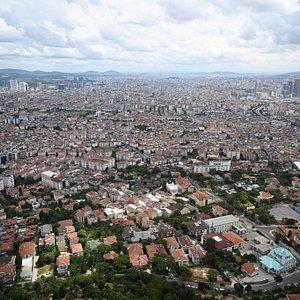 Вид на азиатскую часть Стамбула.