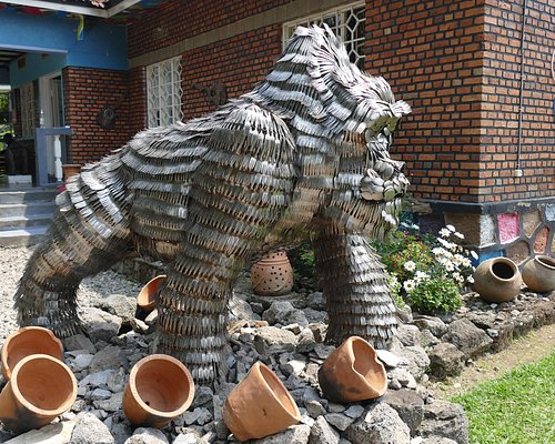 gorilla made from disused cutlery