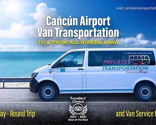 Private Van Transportation from Cancun Airport to all Riviera Maya. One or round trip tranfers.