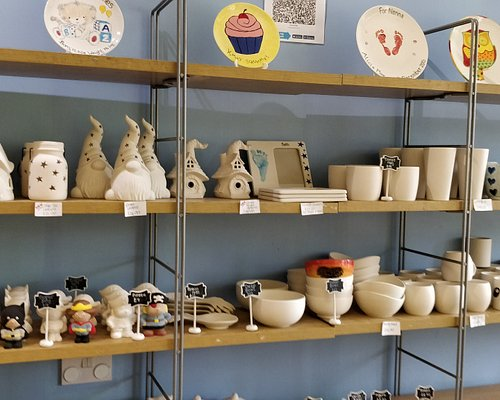 Some of the ceramics you can paint.