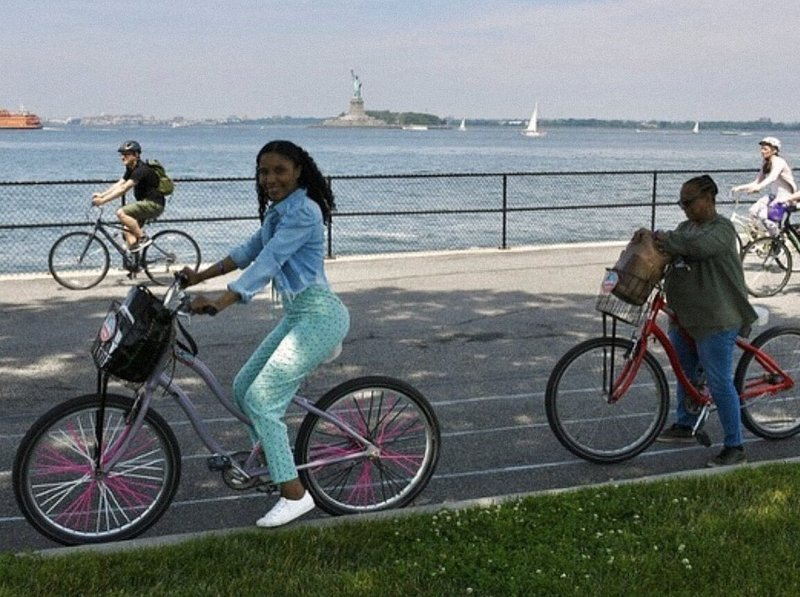 Biking Governors Island, NYC