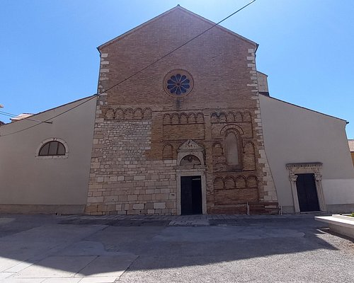 The cathedral building.