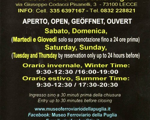 Orari di apertura generali - Martedì e Giovedì aperto SOLO su prenotazione da fare il giorno precedente