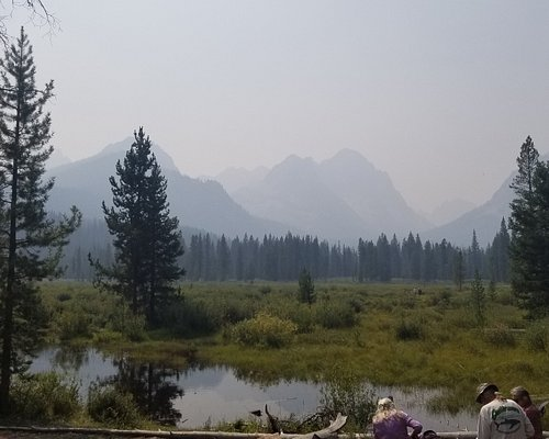 The view at the end (though smoke from wildfires obscured the view)