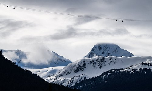 Whistler Blackcomb's side-by-side mountains are connected by the PEAK 2 PEAK Gondola, linking 16 alpine bowls, three glaciers, more than 200 runs and 8,171 acres of skiable terrain Photo: Andrew Strain