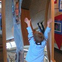 Crazy mirror at Children's Museum