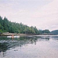Ocean Kayaking in Clayoquot Sound near Tofino