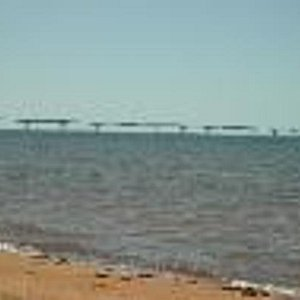 confederation bridge view from our beach