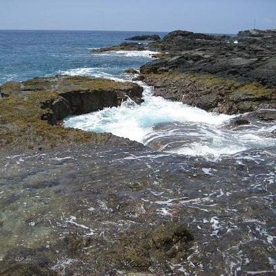 Surging tidal pool, Kealakekua Bay