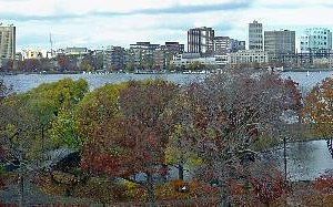 View of Charles River and Cambridge from Nami Spa in Boston