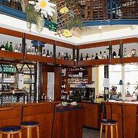 Interior bar area of Le Marecage