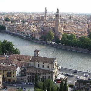 Rooftops of Verona from Castel San Pietro