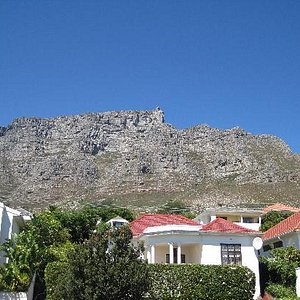 Table Mountain from our bedroom window