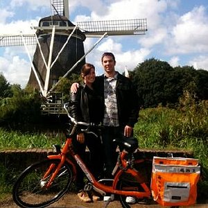 Windmill on the Amstel River with Joy Ride Tours