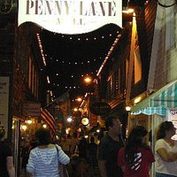 Penny Lane Mall at night