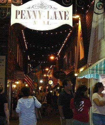 Penny Lane Mall at night