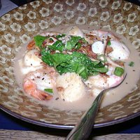 Scallop and Shrimp w/Gouda grits