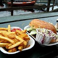 Tuna sandwich and fries