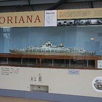 Model of Oriana - built at Barrow