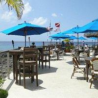 Tables and view at the Tiki Bar