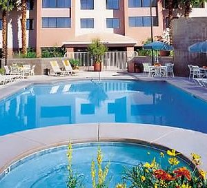 The Carriage House Las Vegas outdoor heated pool and whirlpool is available for your convenience
