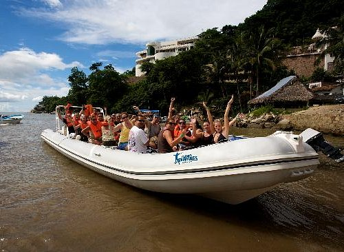 Fast Inflatable Boat Ride