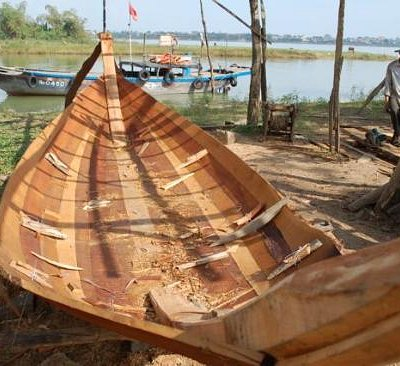 "Boat lovers will like the stop at the workshop where small VN ""ghe"" are still constructed by han"