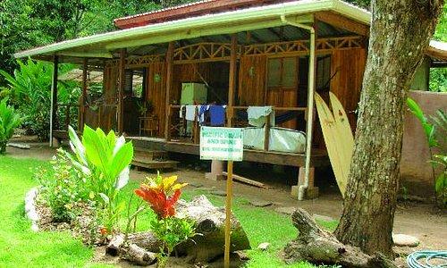las olas cabin in front of matapalo break