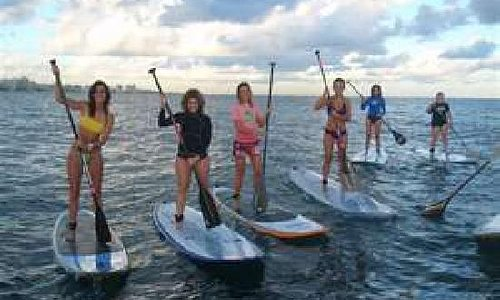 All girls paddleboard outing
