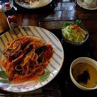 スパゲティも美味しそう。