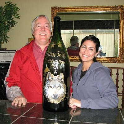 Tom and Jessica at Stone Wolf Winery