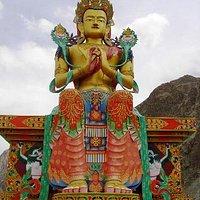 Buddha Statue in Diskit