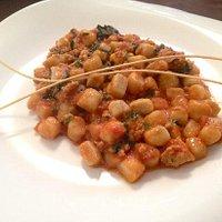 Gnocchi con salsiccia sausage