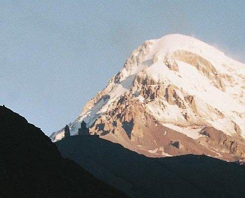 View on Mount kazbegi and Gergeti Trinity Church from Colour Tour Georgia